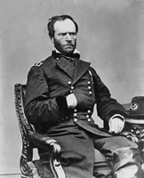 Digitally Restored Vector Portrait of General Sherman by John Parrot - various sizes, FulcrumGallery.com brand