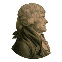 Digitally Restored Portrait of Thomas Jefferson (sepia toned) Fine Art Print