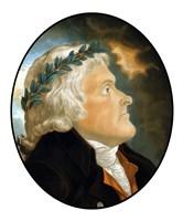 Digitally Restored Vector Artwork of Thomas Jefferson (color) Fine Art Print