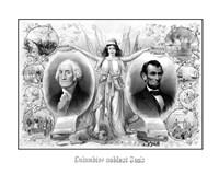 President Washingtons and Lincoln Fine Art Print