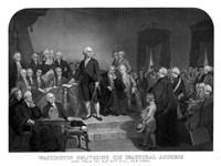 President George Washington' Inaugural Address by John Parrot - various sizes