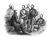 Digitally Restored Civil War artwork of Abraham Lincoln and His Commanders by John Parrot - various sizes, FulcrumGallery.com brand
