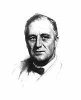 Vector Sketch of Franklin Delano Roosevelt Fine Art Print