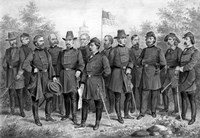 Famous Union Generals of the Civil War by John Parrot - various sizes, FulcrumGallery.com brand