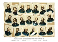 Famous Union Commanders by John Parrot - various sizes, FulcrumGallery.com brand