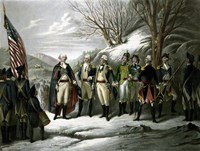 General George Washington and his Military Commanders Fine Art Print