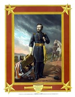 General Ulysses S Grant with Cannon (color) by John Parrot - various sizes