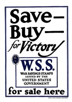 Save - Buy - For Victory Fine Art Print