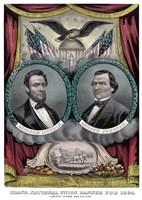 Digitally Restored 1864 Election Banner by John Parrot - various sizes
