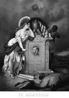 Lady Liberty and a Slave at the Grave of President Lincoln by John Parrot - various sizes