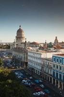 Cuba, Havana, Capitol Building, Parque Central Fine Art Print