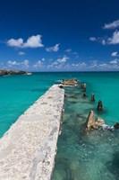 Cuba, Havana, Playas del Este, Playa Jibacoa, pier by Walter Bibikow - various sizes - $36.49