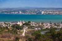 Cuba, Matanzas, City and Bahia de Matanzas Bay Fine Art Print