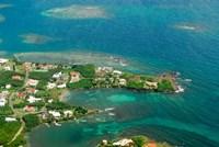 Grenada, City of St George and the beach Fine Art Print