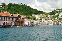 Grenada, St George, Carenage, Residential area Fine Art Print