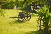 Domaine de Severin Rum Distillery, and Sugar Cane Cart, Guadaloupe, Caribbean Fine Art Print