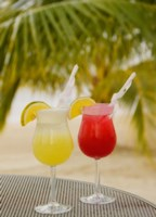 Cocktails on the Beach, Jamaica, Caribbean Fine Art Print