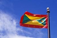 National Flag of Grenada, Caribbean Fine Art Print