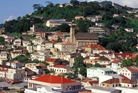 View of Downtown St George, Grenada, Caribbean by Greg Johnston - various sizes