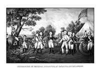 Surrender of British General John Burgoyne at Saratoga Fine Art Print