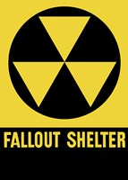 Fallout Shelter Sign by John Parrot - various sizes, FulcrumGallery.com brand