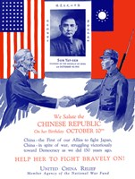 Uncle Sam Shaking Hands with a Chinese Soldier by John Parrot - various sizes