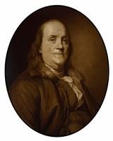 Benjamin Franklin (sepia tone) by John Parrot - various sizes - $47.49