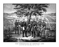 Surrender of General Robert E Lee to General Ulysses S Grant by John Parrot - various sizes - $47.49