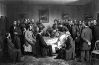 President Abraham Lincoln on his Deathbed by John Parrot - various sizes, FulcrumGallery.com brand