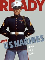 Marine Corps Recruiting Poster from World War II Fine Art Print