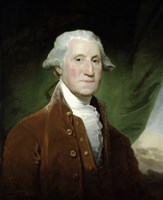 Digitally Restored Vector Painting of George Washington Fine Art Print
