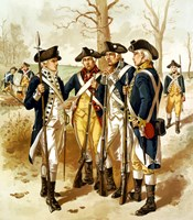 Continental Army During the Revolutionary War by John Parrot - various sizes