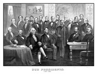 First Twenty-One Presidents Seated Together in The White House Fine Art Print