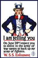 Uncle Sam Recruiting Poster from WWI by John Parrot - various sizes