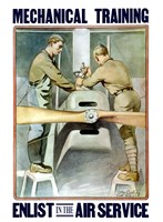 Mechanical training - Enlist in the Air Service by John Parrot - various sizes