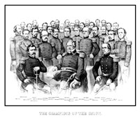 Group Portrait of Early War Union Generals by John Parrot - various sizes