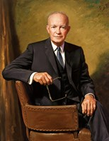 President Dwight D Eisenhower Seated Fine Art Print