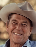 Ronald Reagan in Cowboy Hat Fine Art Print