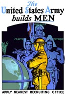 United States Army Builds Men by John Parrot - various sizes