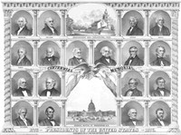 First Eighteen Presidents of The United States by John Parrot - various sizes, FulcrumGallery.com brand