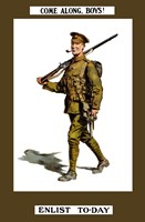 Come Along Boys, Enlist Today Fine Art Print