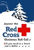 Red Cross Christmas Roll Call Fine Art Print