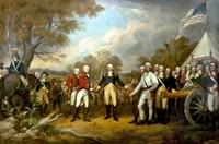 Surrender of British General John Burgoyne Fine Art Print