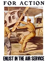 For Action - Enlist in the Air Service by John Parrot - various sizes - $47.99