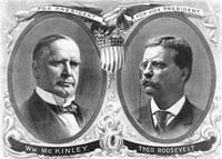McKinley & Roosevelt Election Poster by John Parrot - various sizes, FulcrumGallery.com brand