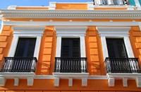Puerto Rico, Old San Juan, Colonial architecture Fine Art Print