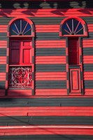 Puerto Rico, Plaza Las Delicias, firehouse museum by Walter Bibikow - various sizes, FulcrumGallery.com brand