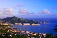 Caribbean, St Thomas, USVI, Charlotte Amalie Fine Art Print