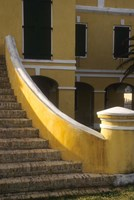 Customs House exterior stairway, Christiansted, St Croix, US Virgin Islands by Alison Jones - various sizes, FulcrumGallery.com brand