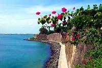 Waterfront Walkway, Fort San Felipe del Morro, San Juan, Puerto Rico, Fine Art Print